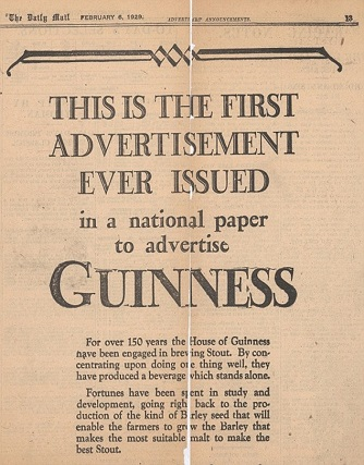 first newspaper ad ever