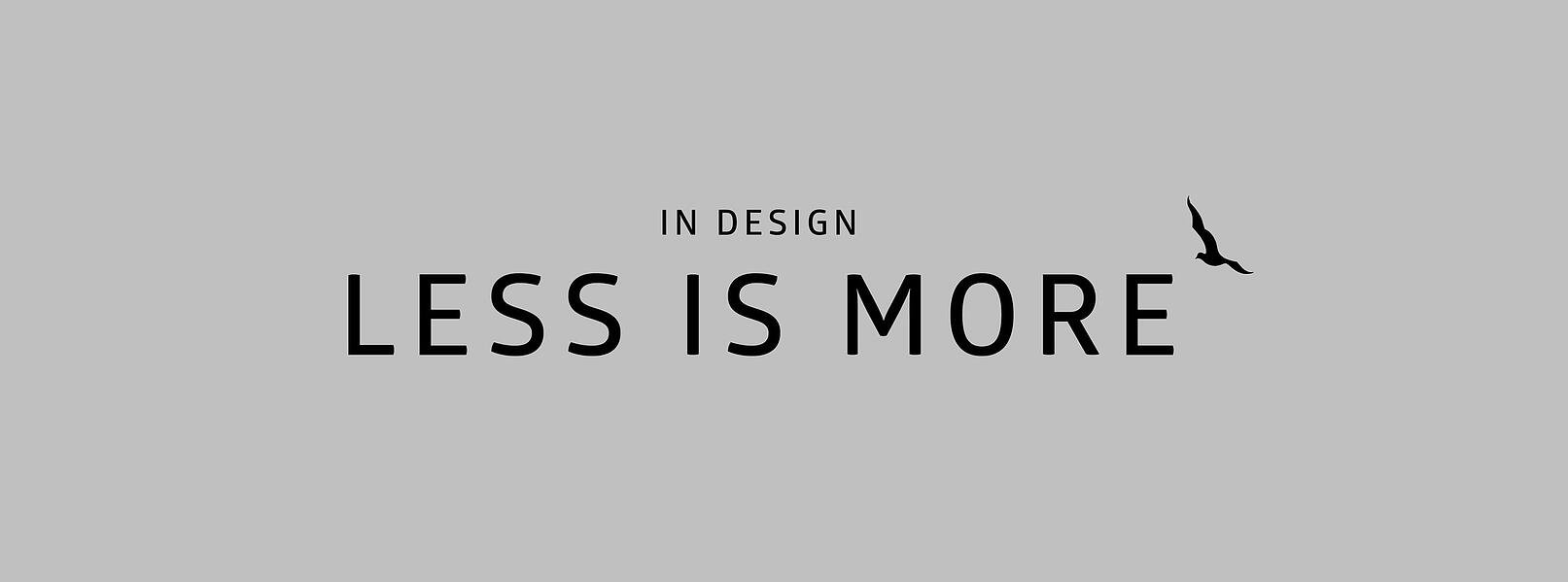less is more in design